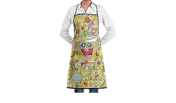 JESSA Precioso Estampado Bob Esponja, Delantal de Cocina ...