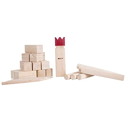 Amazon Bex Sports Kubb Game Original Lawn Game Equipment Fascinating Lawn Game With Wooden Blocks