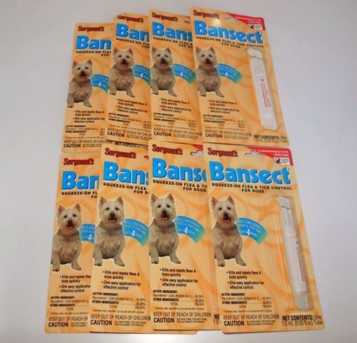 Price comparison product image Dog Sergeant's Bansect Squeeze-On Flea and Tick Control for Dogs 8 Count under 33 lbs