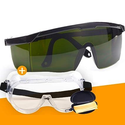 L Gafas De Soldadura Antideslumbrante Anti-Splash Gafas De Soldadura por Arco De Argón Gafas