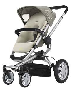 Quinny 60404950 Buzz 4 - Silla de paseo con cesta, capota, protector para la lluvia y adaptador para capazo (4 ruedas), color crudo
