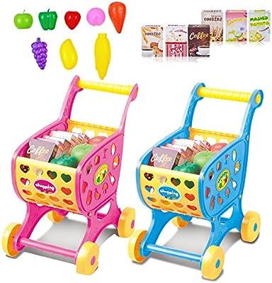Bearony Carro de Compras de Juguete para bebé niño, Mini Carro de ...