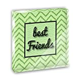 Best Friends on a Chevron Pattern Acrylic Office Mini Desk Plaque Ornament Paperweight