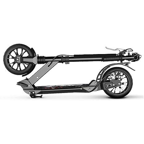 ACZZ Patinete plegable para adultos con ruedas grandes y ...