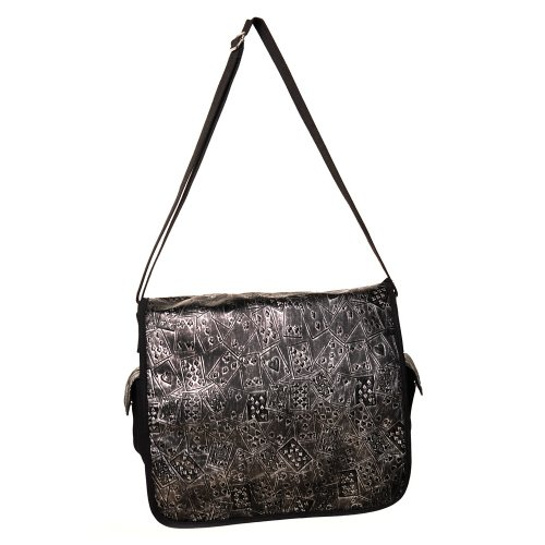 Banned Alternative Wear - Bolso al hombro de Lona para hombre Negro negro