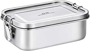 Bento Lunch Box, G.a HOMEFAVOR Stainless Steel Lunch Containers Leakproof, Metal Lunch Containers for Kids Adults, 800ML, Dishwasher Safe, BPA Free