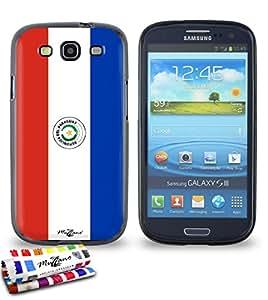 Carcasa Flexible Ultra-Slim SAMSUNG GALAXY S3 / I9300 de exclusivo motivo [Paraguay Bandera] [Negra] de MUZZANO  + ESTILETE y PAÑO MUZZANO REGALADOS - La Protección Antigolpes ULTIMA, ELEGANTE Y DURADERA para su SAMSUNG GALAXY S3 / I9300
