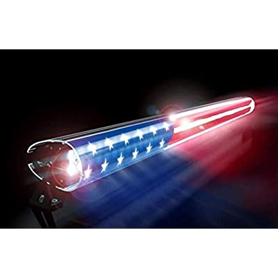 "AEROX IND. Red White Blue American Flag LED Light Bar Cover, 52"" Insert: Automotive"