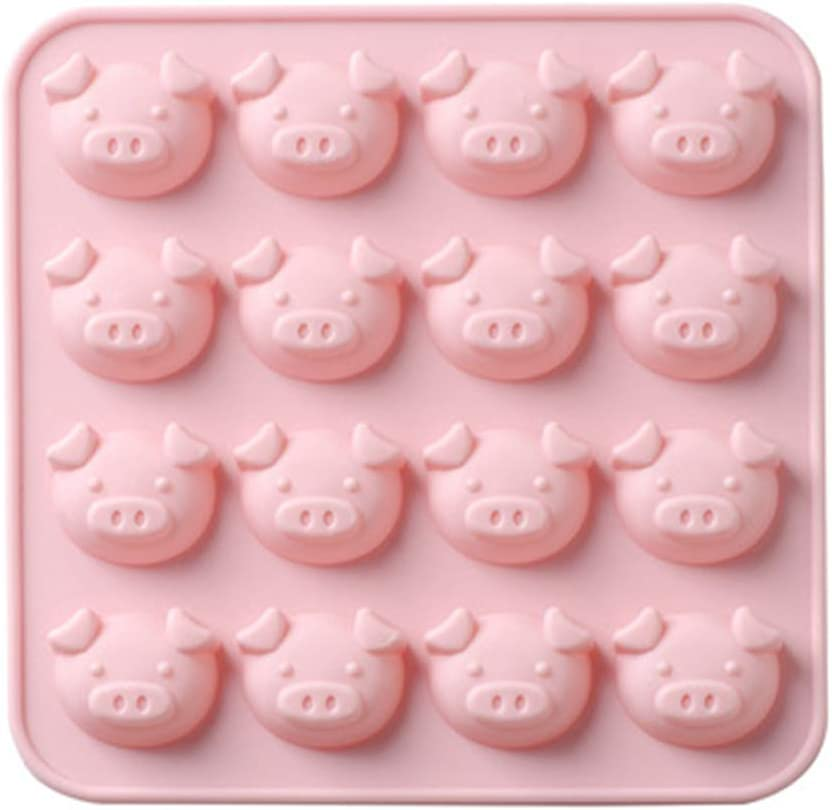 Pig Head Silicone DIY Mold Candy Gummy Bear Molds Cake Soap Pudding Mould Handmade Baking Tools
