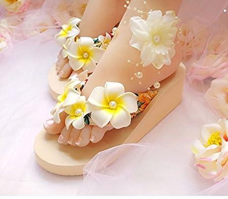 AWXJX Summer womens flip flops flip flops student Outer wear Thick bottom Slope
