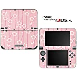 Pink Flower Blossom Decorative Video Game Decal Cover Skin Protector for the ''New'' Nintendo 3DS XL (2015-2016 Edition)