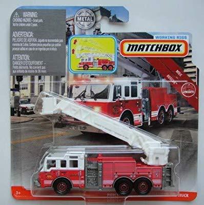 Matchbox PIERCE VELOCITY AERIAL PLATFORM FIRE TRUCK WORKING -