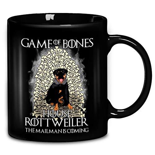 (Games Of Bones House Rottweiler The Mailman Is Coming Coffee Mug 11oz & 15oz Ceramic Tea Cups)