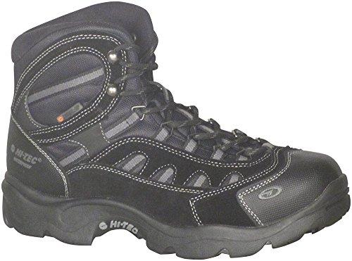 Bandera Black Boots - Hi-Tec Men's Bandera Mid 200g Waterproof-M Snow Boot, Black/Charcoal, 8.5 M US
