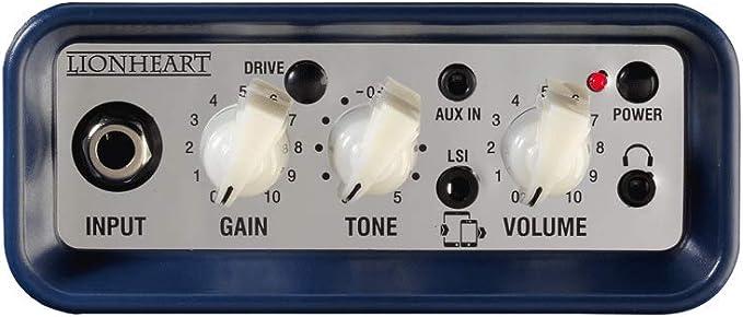 Laney Mini Series - vue du panneau de réglages