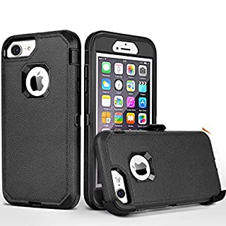 FOGEEK iPhone 8 case,iPhone 7 Case, iPhone 6s Case, [No Screen Protector] Belt-Clip Protective Heavy Duty Kickstand Cover [Shockproof] Cover Compatible for iPhone 8/7/6/6s (NOT Plus) (Black)
