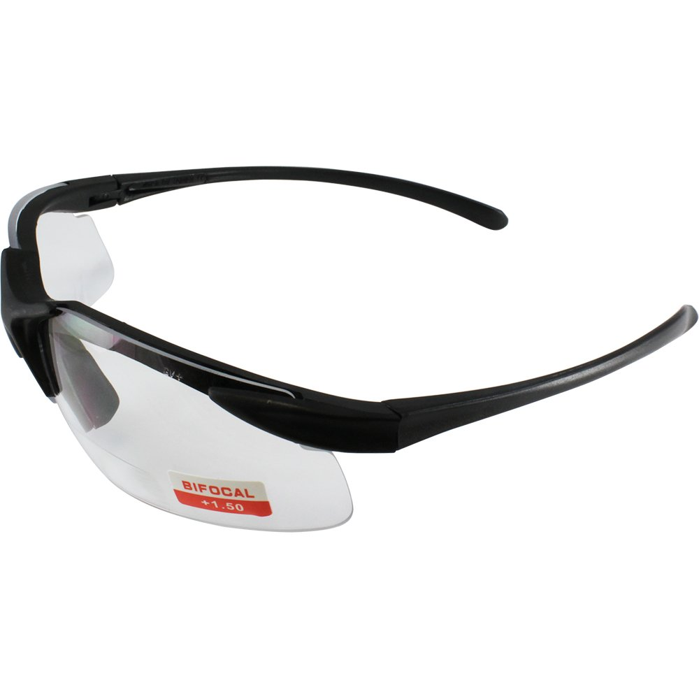 Apex clear bifocal safety glasses 1.5 power
