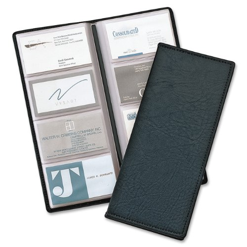 TOPS Cardinal Sewn Vinyl 96 Card File, Black (34422)