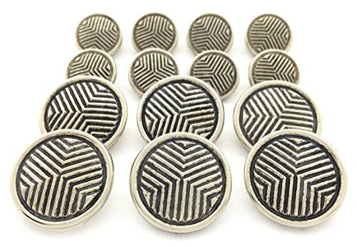 geometric-triangle-metal-blazer-button-set-by-metalblazerbuttonscom-14-button-set-antique-silver