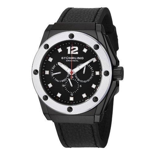 Stuhrling Original Men's 469.33B51 'Special Reserve Midnight Apocalypse' Black Watch