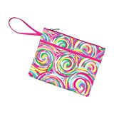 Patterned 11 x 8.5 Polyester Lined Zipper Pouch Wristlet (Personalized, Summer Sorbet)