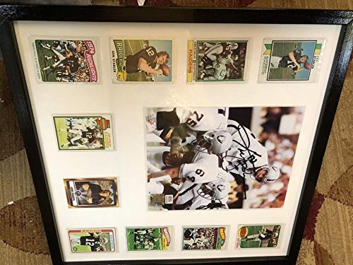 Ken Stabler Oakland Raiders Signed Autograph Auto Football 8x10 Photo Framed 1973 Rookie 1980 Topps Collection PSA/DNA