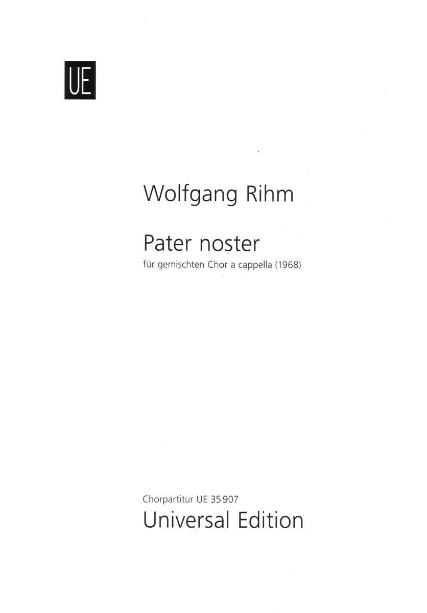 Download Pater Noster: Fur Gemischten Chor A Cappella (for  SATB Chorus A Cappella) pdf epub