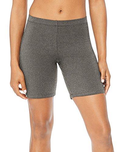 Hanes Women's Stretch Jersey Bike Short, Charcoal Heather, XX-Large -