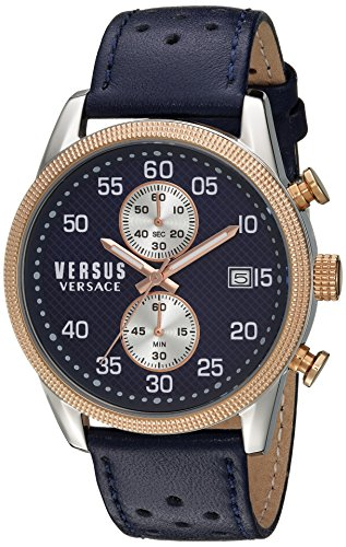 Versus-by-Versace-Mens-SHOREDITCH-Quartz-Stainless-Steel-and-Leather-Casual-Watch-ColorBlue-Model-S66080016