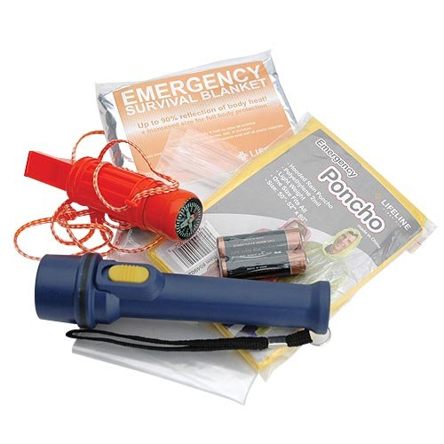 Lifeline-Survival-in-a-Bottle-with-Flashlight-Compass-Whistle-Poncho-Blanket-Blue