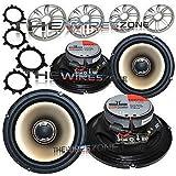 "Polk Audio DB651 6.5"" Car/Marine/Boat 360 Watts Coaxial Speaker (2 pairs)"