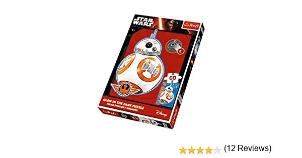 Puzzle 60 Star Wars BB-8 nadchodzi Glow in the Dark: Amazon.es ...