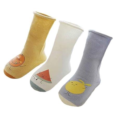 De Sockings 3Pairs Invierno oto/ño beb/és de los Muchachos Los ni/ños de algod/ón de Alto de Rodilla Calcetines de la Historieta del ni/ño Calcetines Largos del Tubo Regard