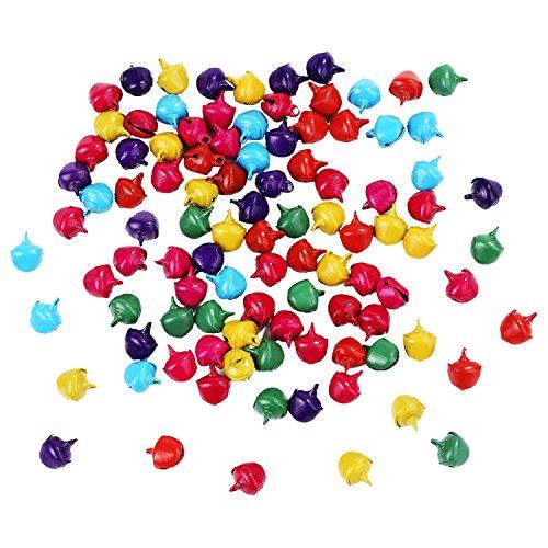 - Bememo 200 Pieces Assorted Colored Bells Small Jingle Bells Mini Craft Bells Metal Bells for Decor and DIY, 2 Sizes