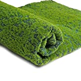 VORCOOL Artificial Grass Turf Lawn Artificial Grass Synthetic Thick Lawn Carpet Miniature Garden Dollhouse Ornament for Home Garden Patio Decoration (Green Point)
