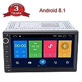 Henhaoro 7 Android Coche estéreo GPS Navegación 8.1 Pantalla táctil Radio Receptor No DVD 2 DIN Resolución 1024x600 Pantalla Coche