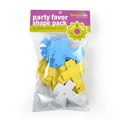 - Bloomin Seed Paper Shapes Packs - Cross Shapes - 100 Shapes Per Pack - 2x2.8