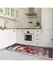 Cekene Kitchen Mats Anti Fatigue Comfort Floor Mat Cushioned Oil Resistant PVC Kitchen Rug Runner Easy to Clean Kitchen Floor Mats