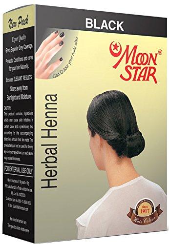 Buy Moon Star Herbal Henna Black Hair Colour 6 Pack Of 10 Gms Each