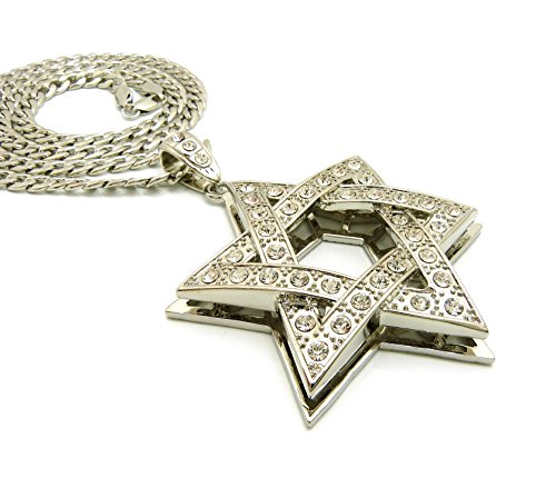 Iced Out Star - Fashion 21 Iced Out Star of David Pendant 6mm 30