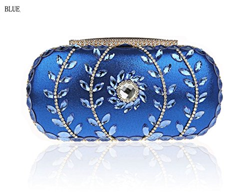 De Mujer Tarde De Bolsas Embrague De Bolsos Bolso Para La De Boda De Los Bolsas De Azul Novia Bolsos Diamantes Xxw6qd