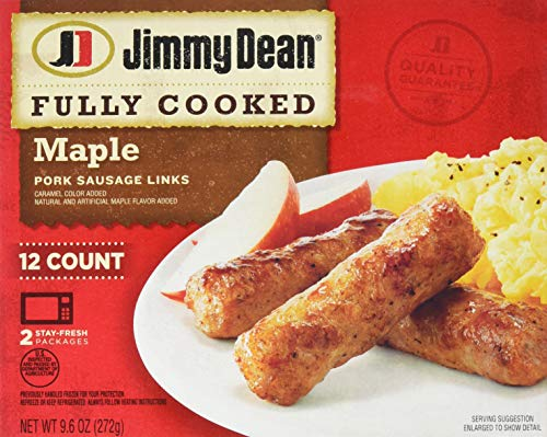 Jimmy Dean, Fully Cooked Pork Sausage Links, Maple, 9.6 oz (A Pound Of Bacon)