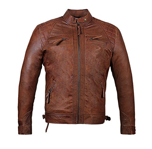 Tall Leather Motorcycle Jacket - 8