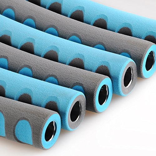 Weighted Hula Hoop 3lb for Adults for Exercise, Fitness, Fat Burning, and Lose Weight (Blue&Gray)