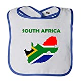 Cute Rascals South Africa Original Country Name Tot Contrast Trim Terry Bib White/Royal Blue