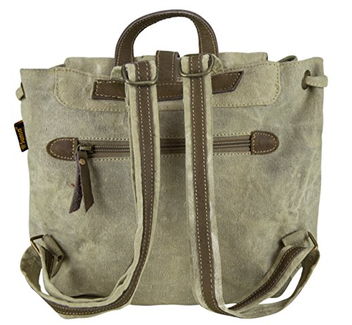 Bolso de compra señora Sunsa Vintage Bolso de hombro bolso de mano hecho de tela / tela con cuero 51718