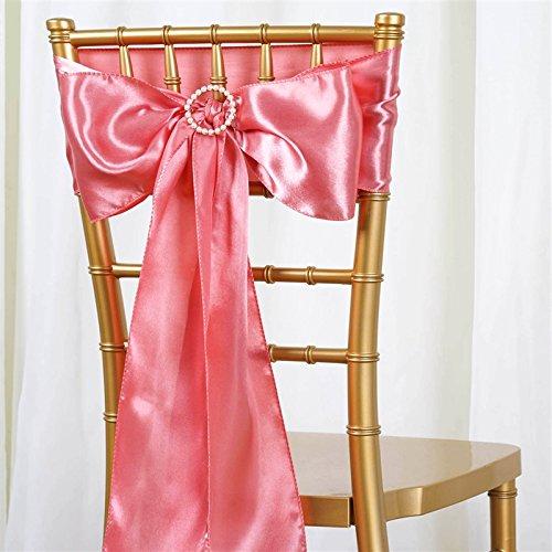 BalsaCircle 10新しいサテン椅子サッシBows Ties – ウェディングデコレーション  Rose Quartz Pink B01M15VCJF