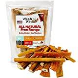 WyldLife Pets Bully Sticks & Beef Tendons [15-Pack] – Nutritious Small & Large Dog Chews Long Lasting – Grass Fed Jerky Sticks w/Glucosamine & Chondroitin – Rawhide Free Treats Made in USA Only