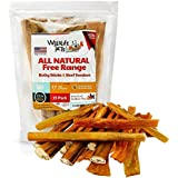 Bully Sticks For Dogs Made In USA With Beef Tendon Combo Pack | Long Lasting Dog Chew Sticks 6 Inch | Natural Dog Chews Sticks And Buffalo Dog Chews From USA | Bully Bones Tendon Chews For Dog