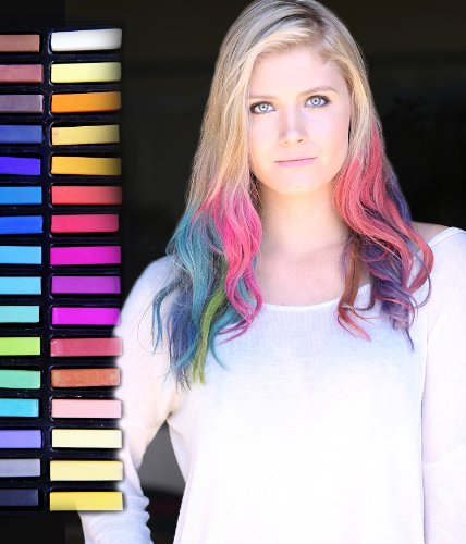 Временное волос Мел Set Gypsy Stix Не токсичен Радуга Цветные краски Пастель 32 шт Профессиональный салон Kit